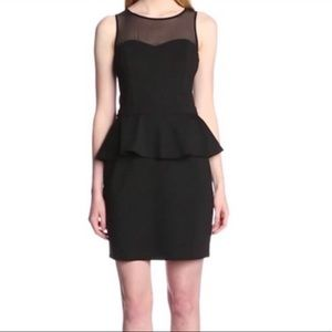 [Kensie] Little Black Peplum Dress Faux Leather